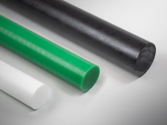 Polyethylenové tyče PE1000, zelené