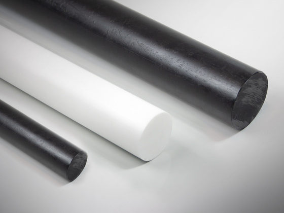 Polyethylenové tyče PE300 (PE-HD), natur