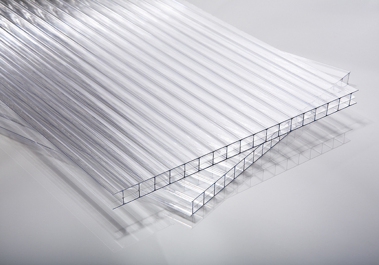 Polykarbonátová deska čirá 10 mm 3W (třístěnná)