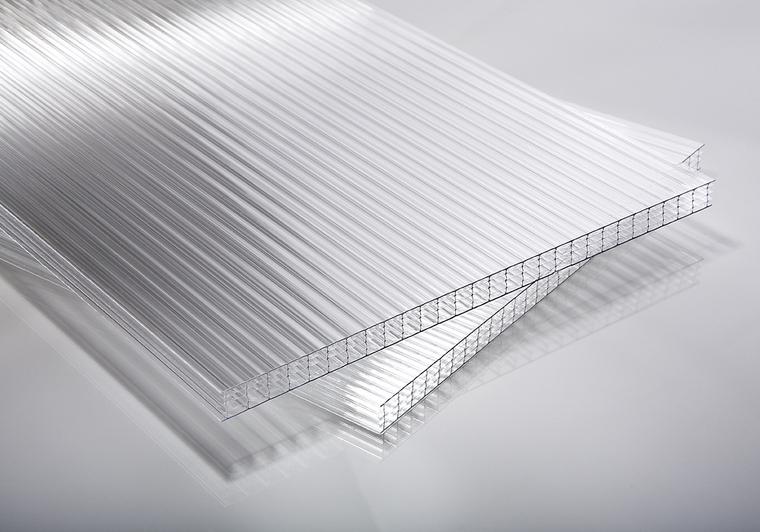 Polykarbonátová deska čirá 10 mm 5W (pětistěnná)