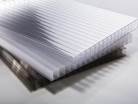 Polykarbonátová deska čirá 7W (sedmistěnná) 16 mm