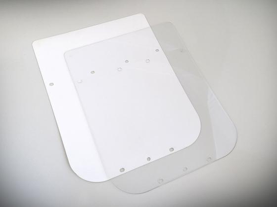 Náhradní ochranné sklo na štít vzor Průša RESEARCH PRO