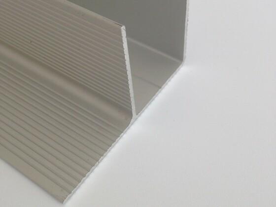 """Okopový hliníkový profil """"F"""", 40/63 mm"""