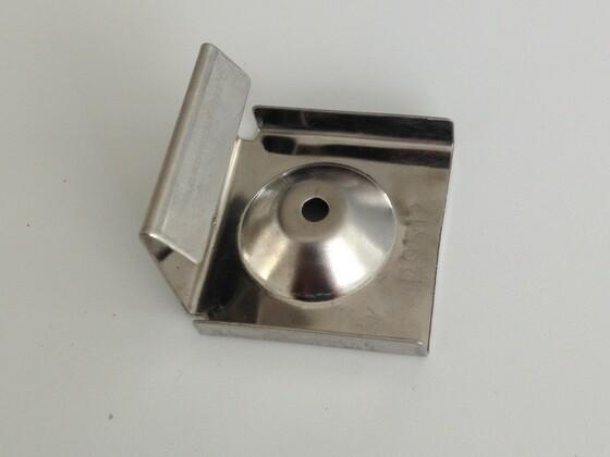 Set - nerezové spony (10ks) + šrouby (10ks)