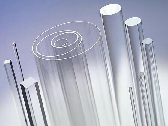 Lité hranaté tyče z plexiskla - čiré