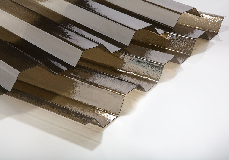 Trapézový polykarbonát krupička bronz