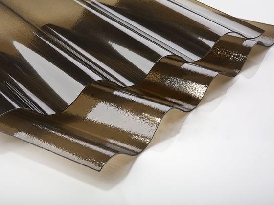 Vlnitý polykarbonát krupička bronz