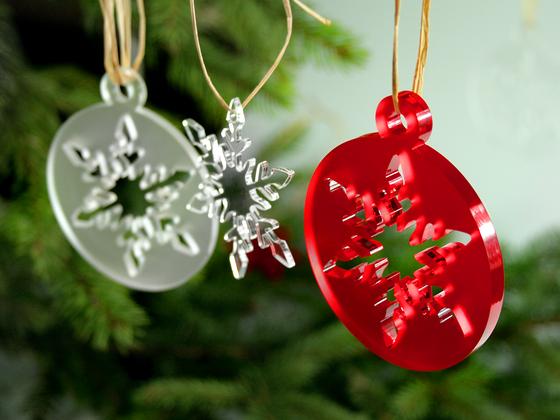 Vánoční ozdoba s vločkou A