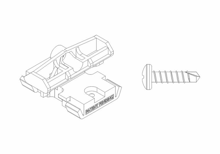 Set - PVC spony (85ks) + šrouby (100ks)