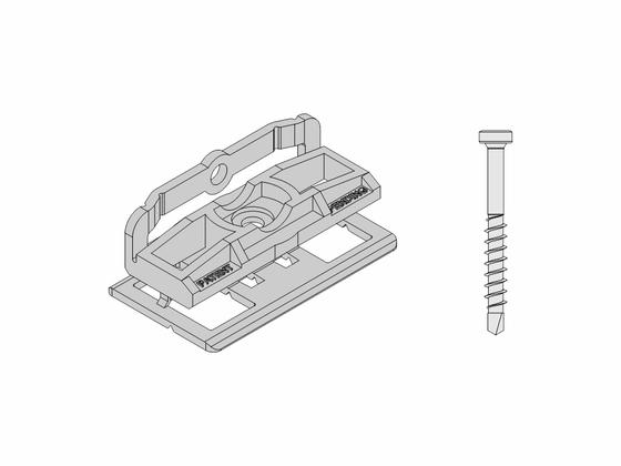Set - PVC spony (100ks) + šrouby (120ks)