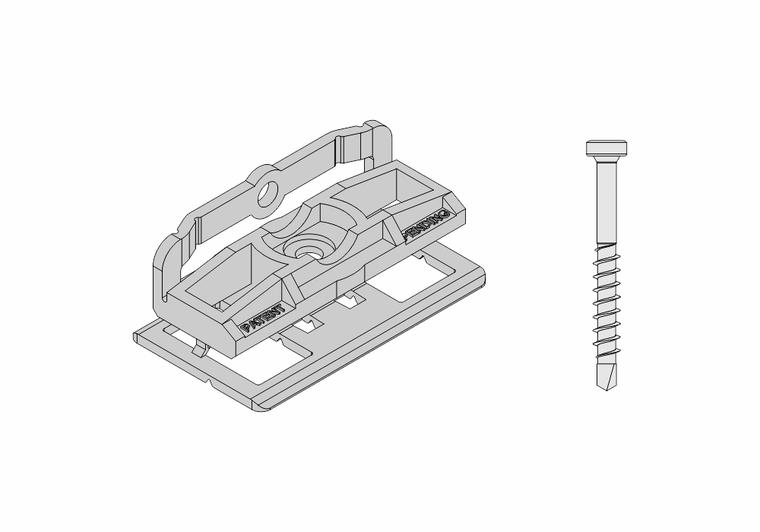 Set - PVC spony (100ks) + šrouby (120ks) Terrace