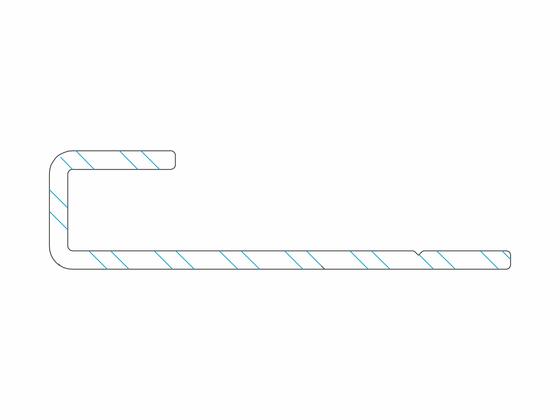 Počáteční a koncový hliníkový profil, 8/30 mm Terrace