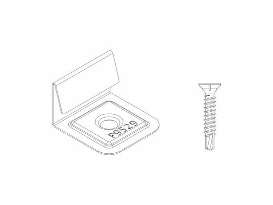 Set - počáteční a koncové nerezové spony (10ks) + šrouby (10ks) Terrace
