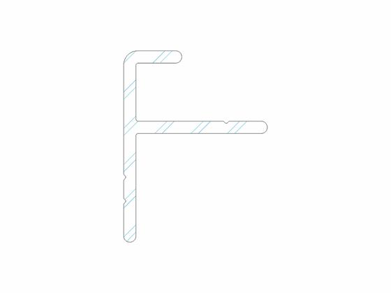 Počáteční a koncový hliníkový profil, 21/28 mm