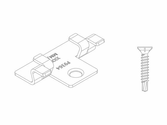 Set - nerezové spony (100ks) + šrouby (110ks)