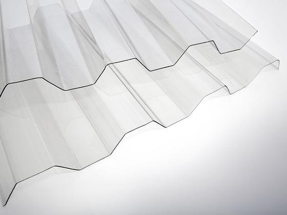 Trapézový polykarbonát hladký čirý 1265x1000 mm