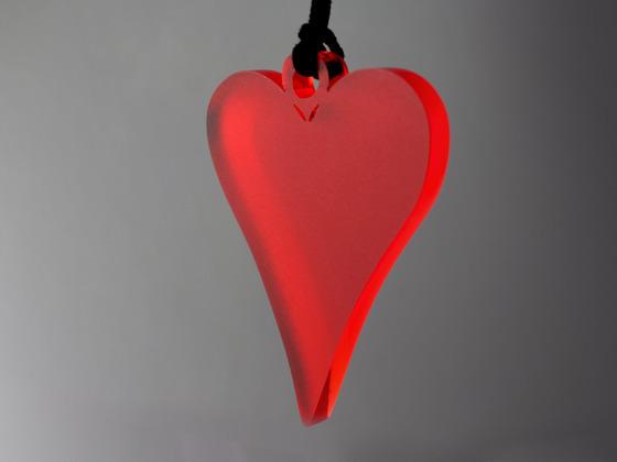 Srdce šperk červené