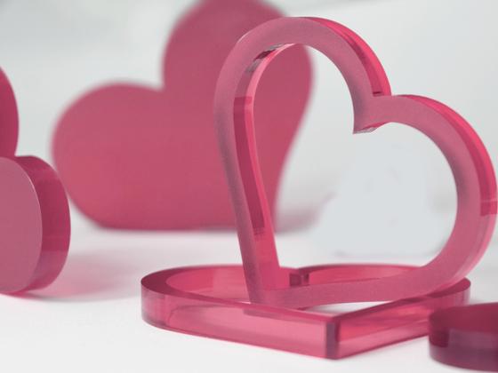 Valentýnská srdce 10 ks - růžová