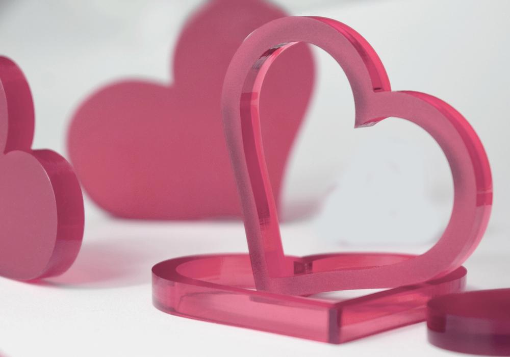 4da9cc68bb95 Valentýnská srdce 10 ks - růžová