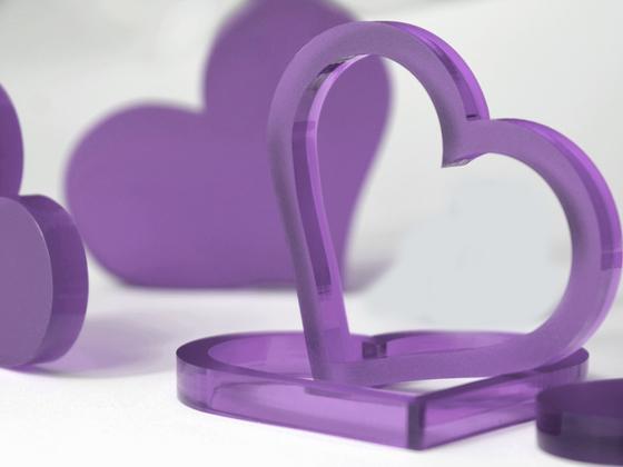 Valentýnská srdce 10 ks - fialová