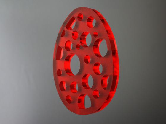 Velikonoční vajíčko s kolečky - červené