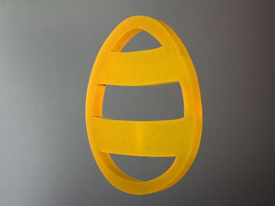 Velikonoční vajíčko s proužky - žluté
