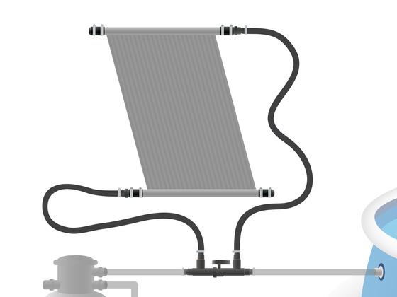 Sada pro připojení panelu (d50) do systému (d32) + uzavírací ventil