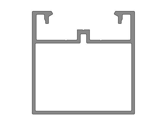 Podkladový hliníkový profil nosný, 50x50 mm, délka 6 m