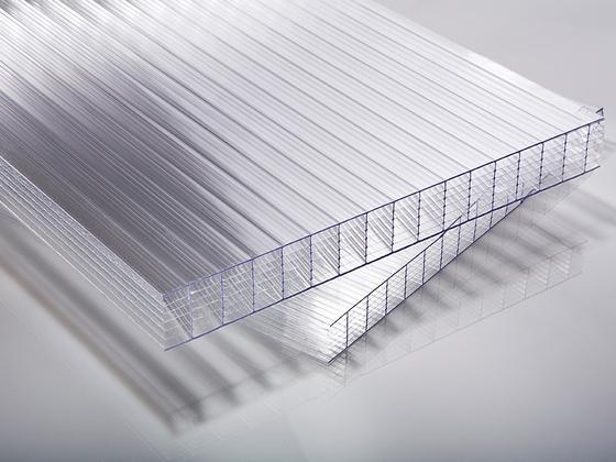 Polykarbonátová deska čirá 7W (sedmistěnná) 25 mm