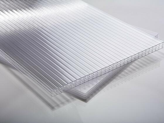 Polykarbonátová deska čirá 8 mm čtyřstěnná