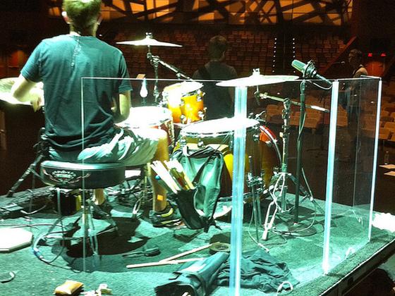 Akustická stěna před bicí z plexiskla BASIC
