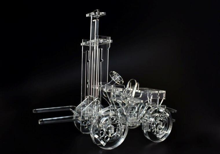 Model vysokozdvižný vozík malý