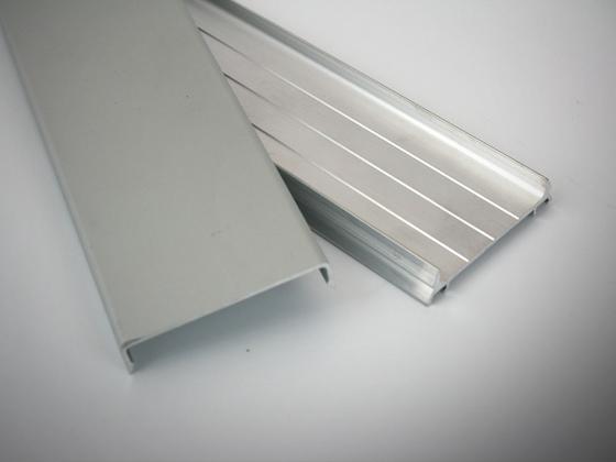 Sada hliníkových profilů: přítalčný + krycí ELOX stříbrný