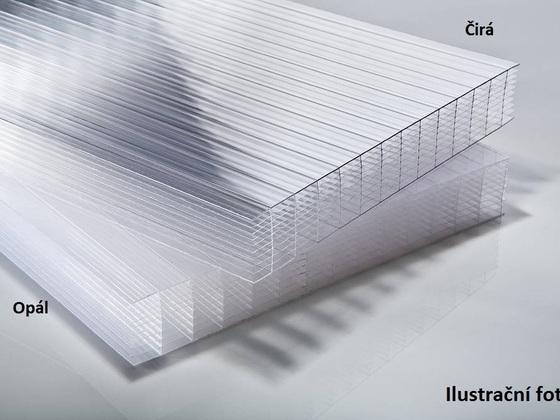 Polykarbonátová deska 25 mm 10W OPÁL 505x4555mm balení 5ks