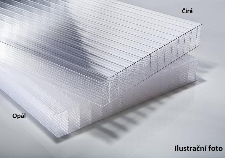 Polykarbonátová deska 25 mm 10W OPÁL 505x4100mm balení 5ks