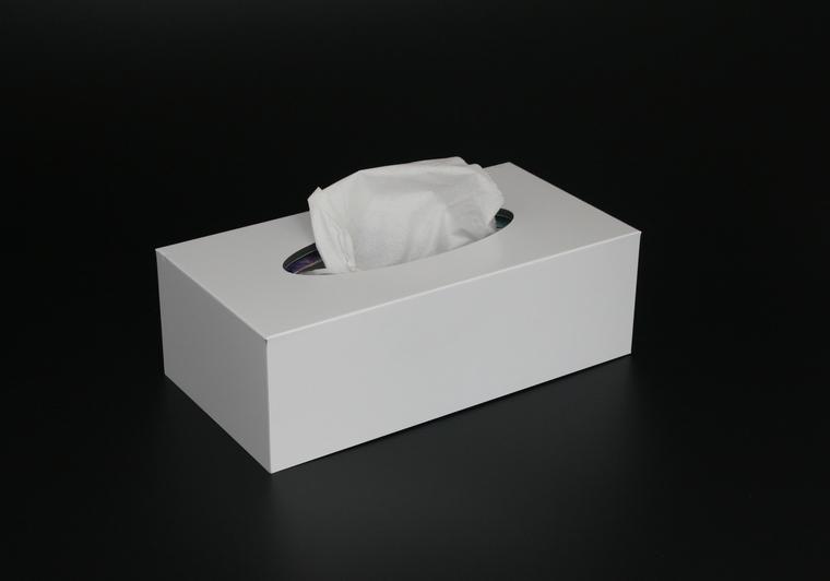 Box na kapesníky bílý