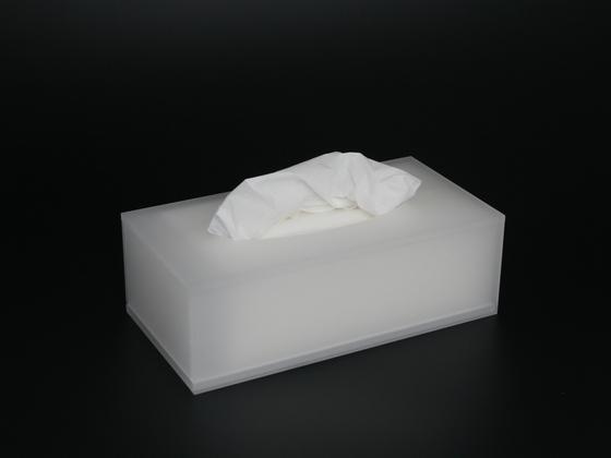 Box na kapesníky bílý satinovaný