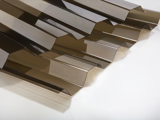 Trapézový polykarbonát hladký bronz