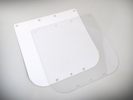 Náhradní ochranné sklo na štít vzor Průša RESEARCH