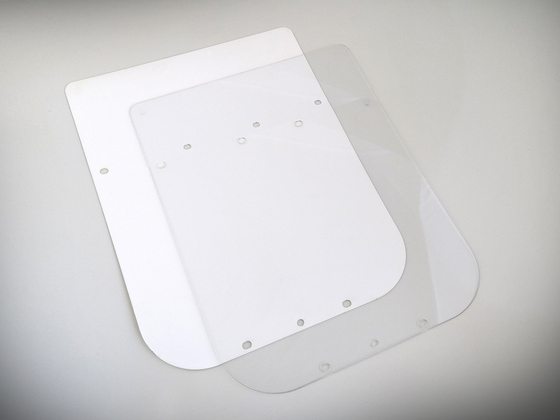 Náhradní ochranné sklo LONG na štít vzor Průša RESEARCH