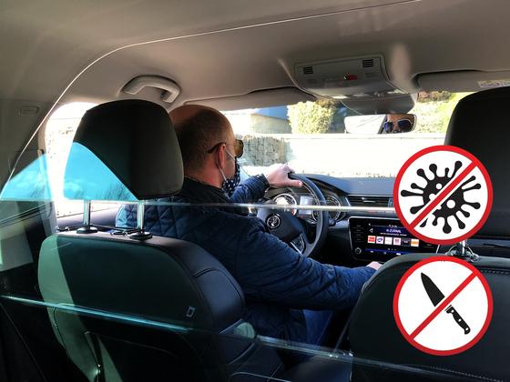Ochranný štít SAFETY CAB pro vozy Škoda Superb