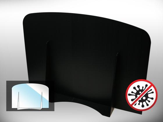 Ochranná dělící přepážka Office 2 (černá)