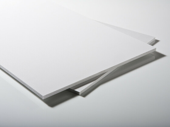 Lehčené PVC desky bílé