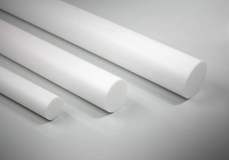 PTFE tyč broušená, průměr 12.7 mm, délka 570 mm