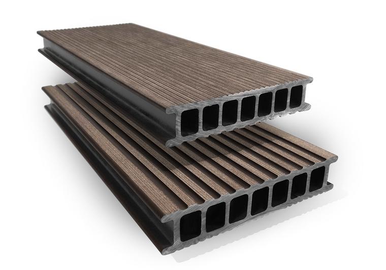 Prkno terasové dřevoplastové Twinson Terrace odstín kůra