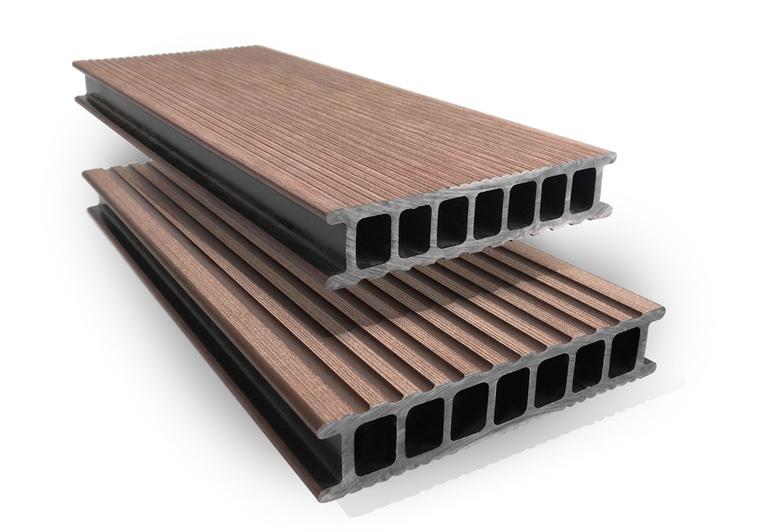 Prkno terasové dřevoplastové Twinson Terrace odstín lískový ořech