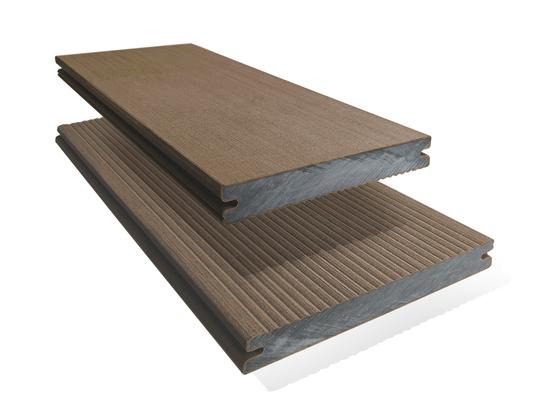 Prkno terasové dřevoplastové Twinson Massive odstín kůra