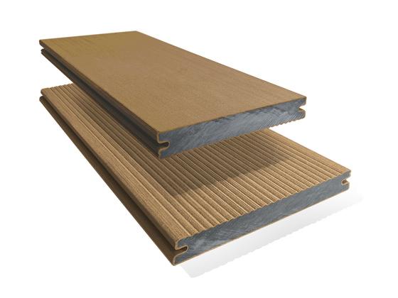 Prkno terasové dřevoplastové Twinson Massive odstín vlašský ořech