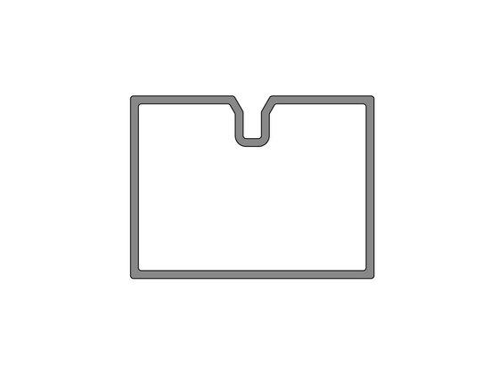 Podkladový hliníkový profil nenosný, 40x30 mm, délka 6 m