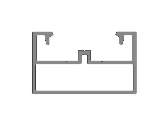Podkladový hliníkový profil nosný, 50x30 mm, délka 6 m